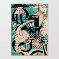lovely doodles Canvas Print