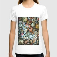 Sea shells  Womens Fitted Tee White SMALL