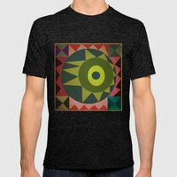 geometric Mens Fitted Tee Tri-Black SMALL