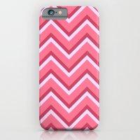 Pink Zig Zag Pattern iPhone 6 Slim Case