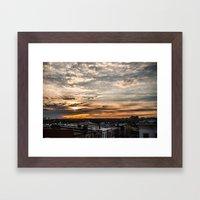 Roof Sunset Framed Art Print