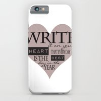 Write It On Your Heart Design iPhone 6 Slim Case