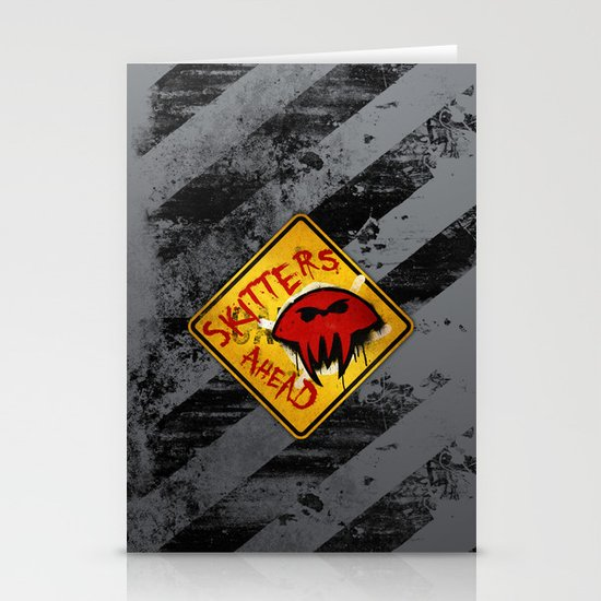 Caution: Skitters Ahead (Falling Skies) Stationery Card