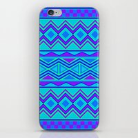 Tribal Pattern (blue & purple) iPhone & iPod Skin