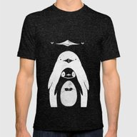 Penguinception Mens Fitted Tee Tri-Black SMALL