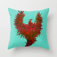 Hot Wings! Throw Pillow