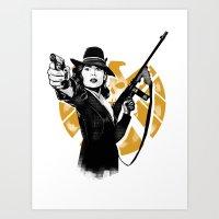Agent Peggy Carter Art Print