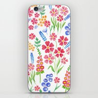 Watercolor floral pattern iPhone & iPod Skin