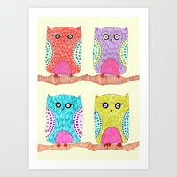 Some Owls Art Print
