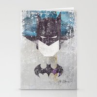 Bat Grunge Superhero Stationery Cards