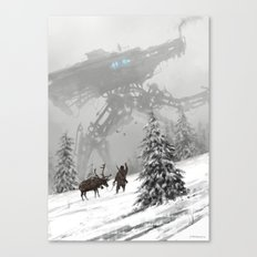 1920 - winter walker Canvas Print