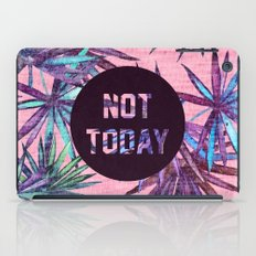 Not today - pink version iPad Case