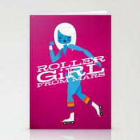 Roller Girl From Mars Stationery Cards
