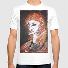 JULIANEZ White Mens Fitted Tee SMALL