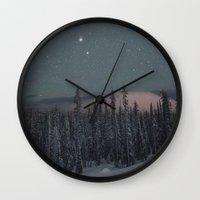 Big White Stars V Wall Clock