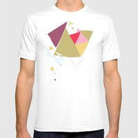 Exploding Triangles//Fou… Mens Fitted Tee White SMALL