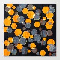 Construct Hex V3 Canvas Print