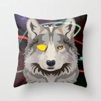 Odinwolf Throw Pillow