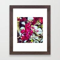 Japanses Flowers Framed Art Print