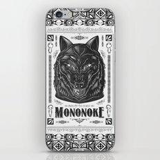 Mononoke Hime Wolf Pride Letterpress Line Work iPhone & iPod Skin