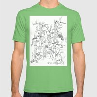 Flock Mens Fitted Tee Grass SMALL