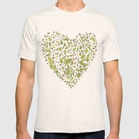 Nature Heart Mens Fitted Tee Natural SMALL