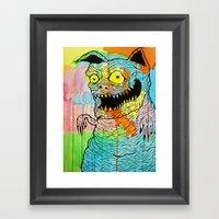 Pig Kitty Framed Art Print