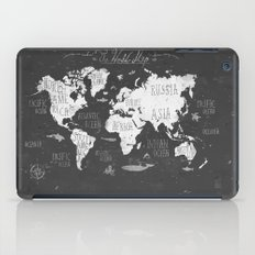 The World Map B/W iPad Case