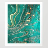 Ocean Gold Art Print