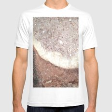 crystals Mens Fitted Tee SMALL White