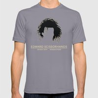 Edward Scissorhands Poster Mens Fitted Tee Slate SMALL