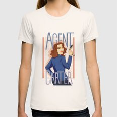 Agent Carter Womens Fitted Tee Natural SMALL