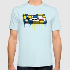 The Art of Gaming Mens Fitted Tee SMALL Light Blue