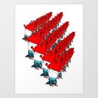 Fish Rally Art Print