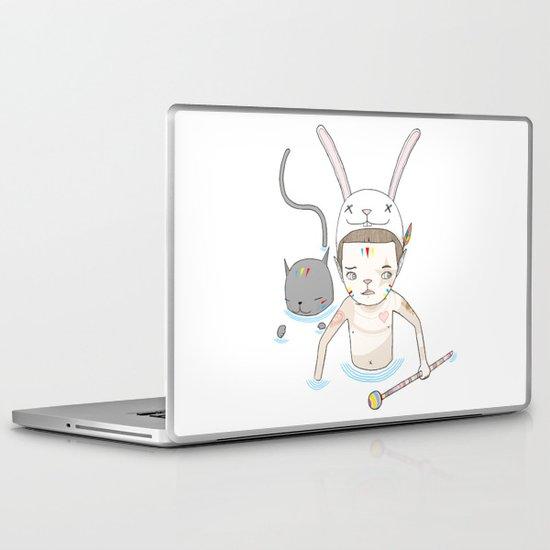 OVER THE BLACK POND Laptop & iPad Skin