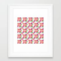 Lucky Flower Multi Framed Art Print