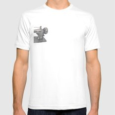 Singer Mens Fitted Tee SMALL White