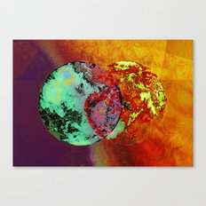 old map of a foreign world far away Canvas Print