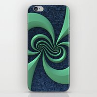 Green on Blue iPhone & iPod Skin