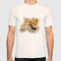 The Chipmunk Portrait Mens Fitted Tee Natural SMALL