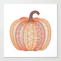 Patterned Pumpkin Canvas Print