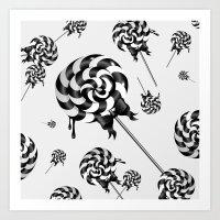 Goth Lollies Art Print