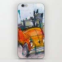 Scottish Terrier Driving a VW Bus iPhone & iPod Skin