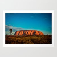 Red Center. Art Print