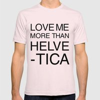 More than Helvetica Mens Fitted Tee Light Pink SMALL