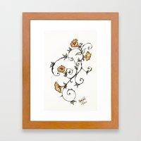Flower Swirl Framed Art Print
