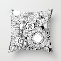 Floral Kaleidoscope  Throw Pillow
