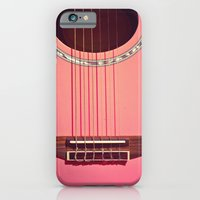 iPhone & iPod Case featuring Pink Guitar by Galaxy Eyes