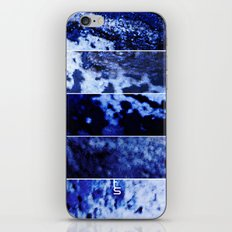 Blue Magnification (Five Panels Series) iPhone & iPod Skin