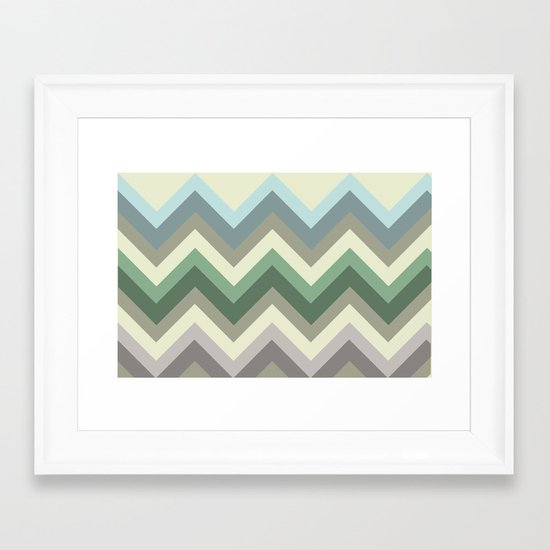 pastel chevron Framed Art Print